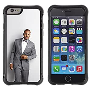 "Pulsar iFace Series Tpu silicona Carcasa Funda Case para Apple (4.7 inches!!!) iPhone 6 , Hombre Traje Hermoso Bowtie Moda moda"""