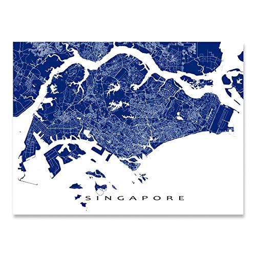 Singapore Map Print, Singapore City Art Poster, Asia