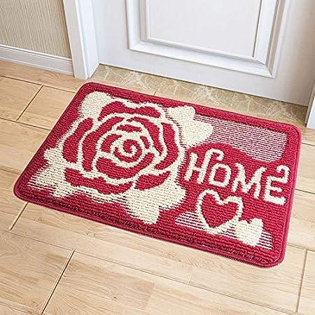 Alfombrilla de cocina con estampado floral vintage para el hogar, alfombra de piso, alfombra antideslizante, alfombras de cocina, tapete para alfombra, jardín rojo de 50x80 cm: Amazon.es: Hogar