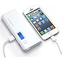 Shalleen 50000mAh External Power Bank Backup Portable LCD Battery Charger For Phone Grey