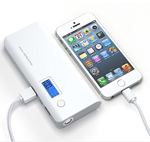 Price comparison product image TAVLAR 50000mAh External Power Bank 2USB Portable LCD Battery Charger For Phone Gray