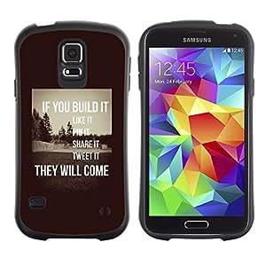 Paccase / Suave TPU GEL Caso Carcasa de Protección Funda para - build it inspiring sepia message smart - Samsung Galaxy S5 SM-G900