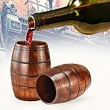 MOTZU 2 Pieces Wooden Barrel Shaped Beer