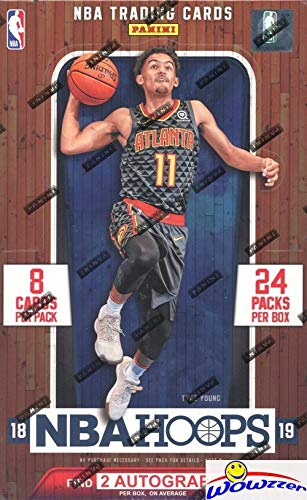 Box Legends Hobby - 2018/2019 Panini Hoops NBA Basketball MASSIVE Factory Sealed HOBBY Box with TWO(2) AUTOGRAPHS & 192 Cards! Look for Rookies & Autographs of Deandre Ayton, Luka Doncic, Trae Young & Many More! WOWZZER!