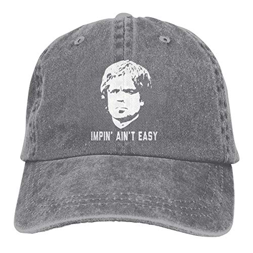 JUDSON Customized Print Casual Cap Game of Thrones Impin' Ain't Easy Fashion Baseball Caps Gray (Game Of Thrones Impin Ain T Easy)