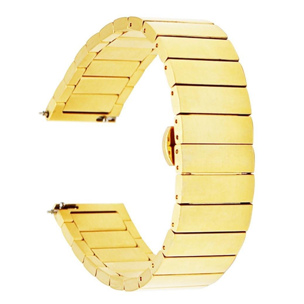 RTYOu ( TM )ホット販売ステンレススチールMetal Claspスマートウォッチバンドストラップfor Huawei Watch 2 One size ゴールド  ゴールド B079DSHNGY