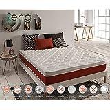 ZENG-Visco Comfort Cashmere Memory Foam Mattress. Medium Firmness Level. 10 Inch, Queen