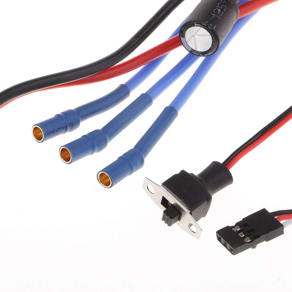 30A ESC para Wltoys A949 A959 A969 A979 1//16 1//18 RC Coche JST Plug FLAMEER 2440 4300KV Motor Sin Escobillas