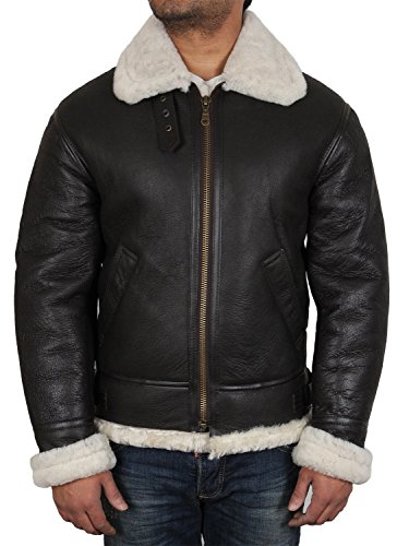 Brandslock Mens Aviator Cream Real Shearling Sheepskin for sale  Delivered anywhere in USA