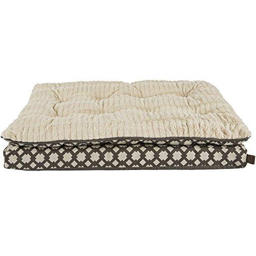 Harmony Grey Pillowtop Lounger Orthopedic Dog Bed, 32″ L x 24″ W, Medium, Gray/White