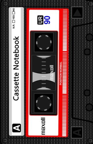 Paper Cassette - Cassette Notebook: Lined A5 Notebook - Cream Paper, A5 Size (5.5 x 8.5 inches), 100 pages (50 sheets)