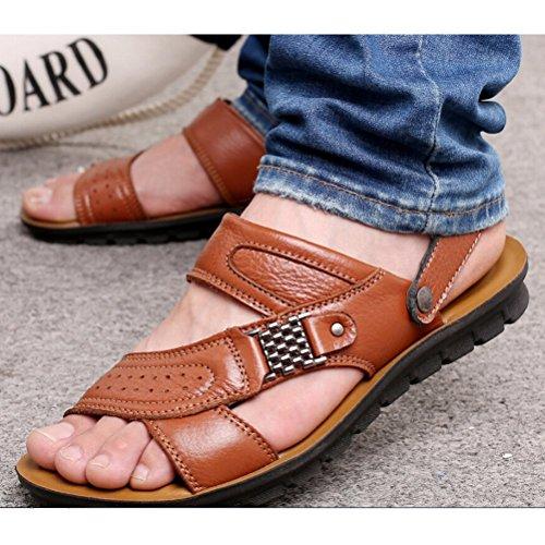Sandalias De Para Braun Style3 Vestir Hombre gelb Sintético Matchlife Material 6OxqwOS