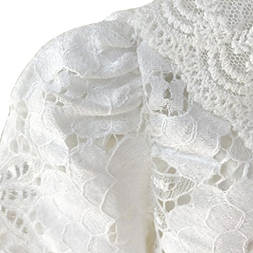 Ourlove Fashion Girls' Long Sleeve Open Front Lace Bolero Shrug Cardigan Top (White, 6-7 Years) by Ourlove Fashion (Image #2)
