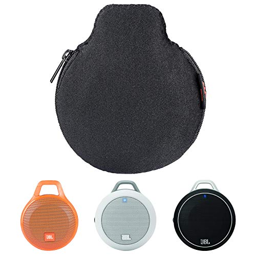 TXEsign Lycra Zipper Carrying Case Bag Compatible with JBL Micro Wireless, JBL Clip and Clip+ plus Splashproof Portable Bluetooth Speaker