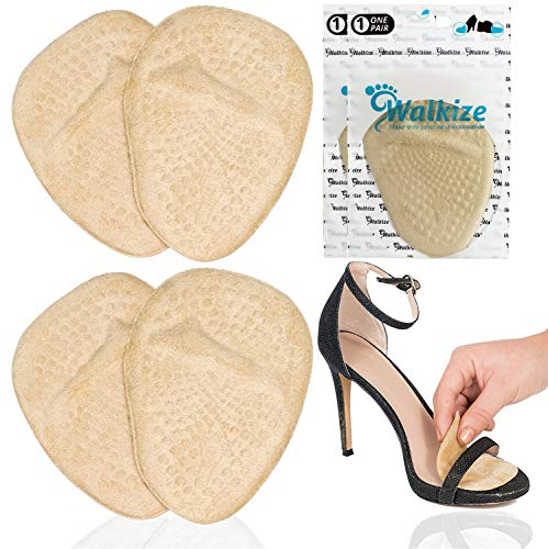 Metatarsal Pads | Metatarsal Pads for Women | Ball of Foot Cushions (2 Pairs Foot Pads) All Day Pain Relief and Comfort One Size Fits Shoe Inserts for Women (Beige) (Best Shoe Cushion Inserts)