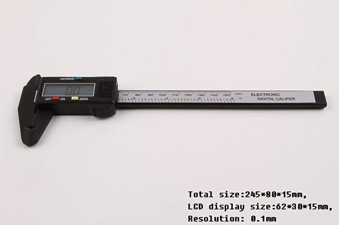 150MM 6inch LCD Digital Electronic Vernier Caliper Gauge Micrometer Ruler Tool B