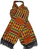 DecoraApparel African Kente Cloth Scarf Handmade Dashiki Hippie Boho Scarves Tie Wrap One Size