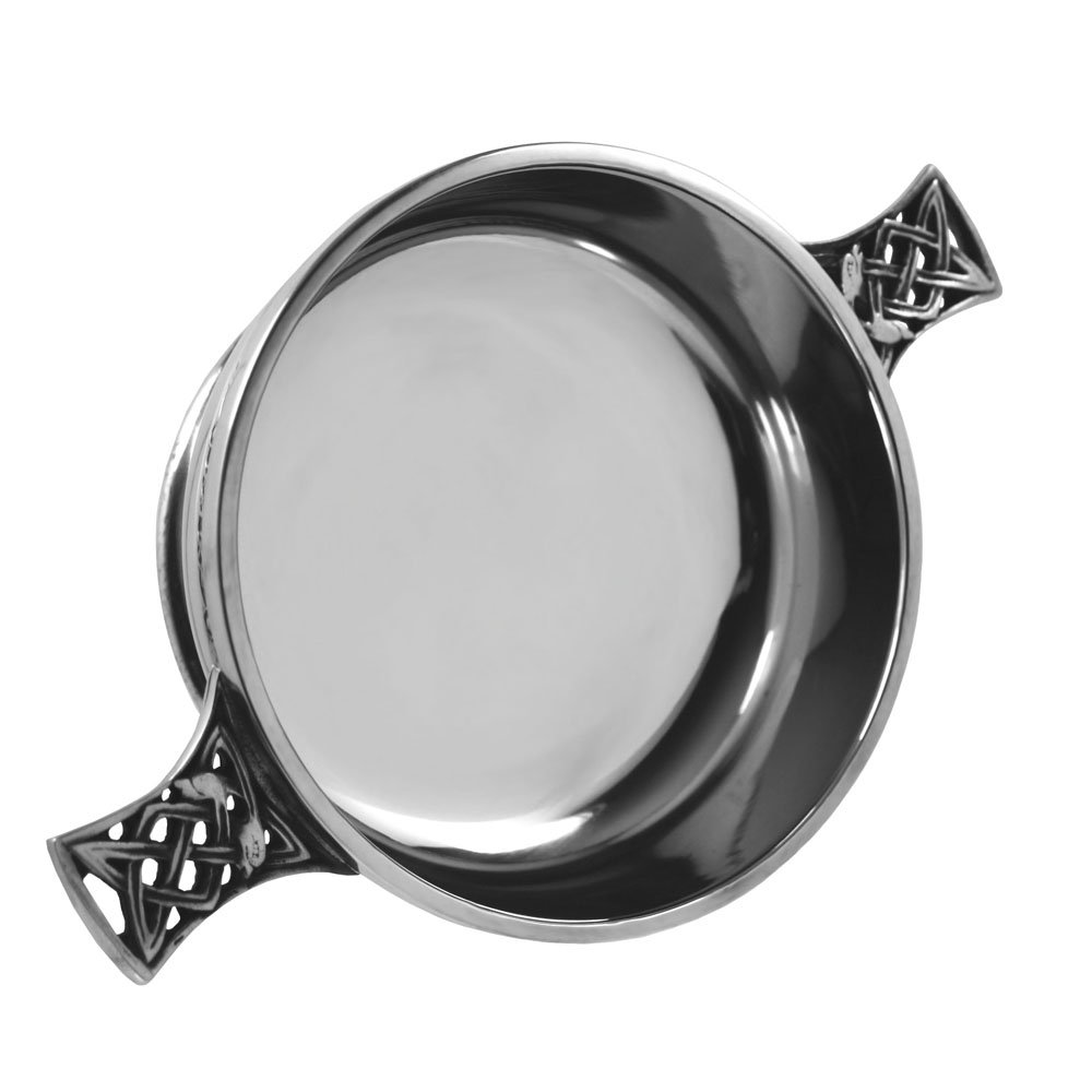 English Pewter Company Quaich-Trinkschale, Zinn, silber, 11,4 cm