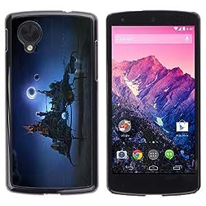 Be Good Phone Accessory // Dura Cáscara cubierta Protectora Caso Carcasa Funda de Protección para LG Google Nexus 5 D820 D821 // Fantasy city In The Sky