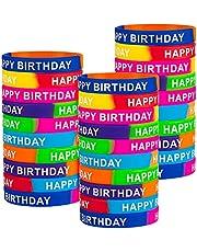 40PiecesHappyBirthdayRubberBracelets,ColoredHappyBirthdayWristbandsForKids,Student,SiliconeClassroomBirthdayGiftfromTeacher,BirthdayPartySupplies(10Styles)