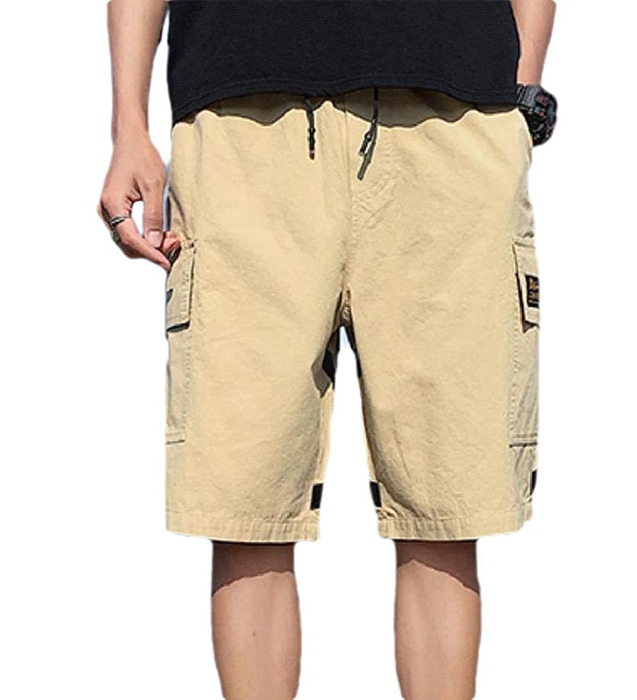Andopa Mens Summer Oversized Soft Short Pants Multi Pockets Combat Pants