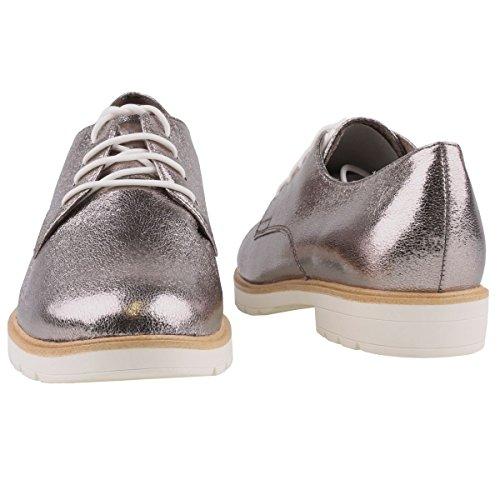Silber pour 20 à 915 23214 femme lacets 915 Tamaris Argenté 1 Chaussures Pewter ville de 1 tvqxfwxO