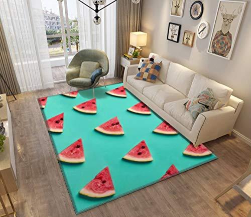 Colorful Pattern of Watermelon Slices Modern Home Area Runner Rug Soft Mats Rugs Doormat Anti-Slip Blanket Carpet Floor Cover Indoor Outdoor Mats Pads for Bedroom (Rug Slice Watermelon)