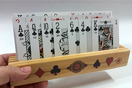 Wooden Playing Card Holders (Barely Adorned Playing Card Holder - Made of Fine Pine Wood with 3-Tiers (or Slots) and Made in USA - Formerly Called Barely Naked)