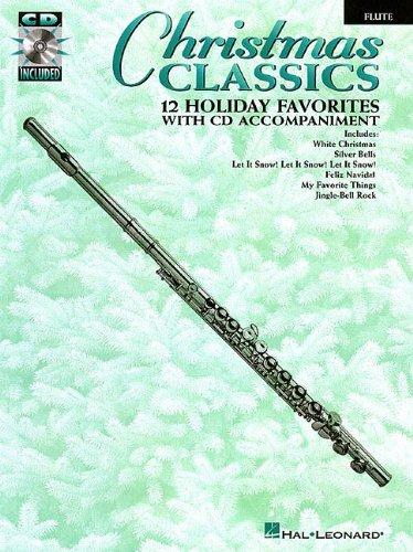 Feliz Navidad Sheet Music - Christmas Classics Flute 12 Holiday Favorites CD/Pkg
