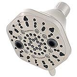Oxygenics 89546 PowerSelect 7-Spray Fixed Showerhead, 3.38, Brushed Nickel by Oxygenics