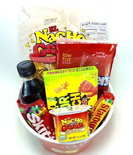 Orville Redenbacher's Movie Night Popcorn and Candy Gift Basket ~ Includes Gourmet Movie Theater Butter Popping Corn, Coke, Nachos and Cheese and Concession Stand Candy (Chewy)