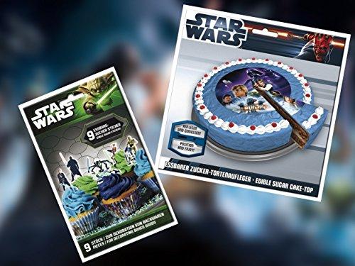 Star Wars Dekoration und Zubehör für Torten, Muffins, Cake Pops (Tortenset I)
