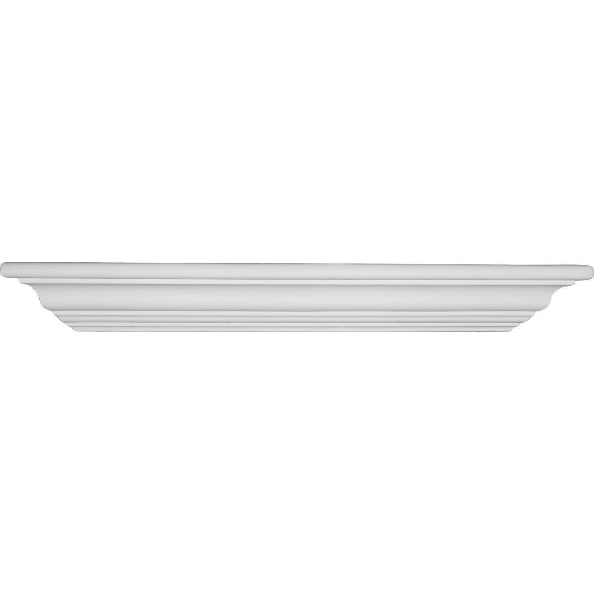 Ekena Millwork SH23X16X03 Shelf, Corner 22 7 8 W x 16 1 4, Factory Primed White