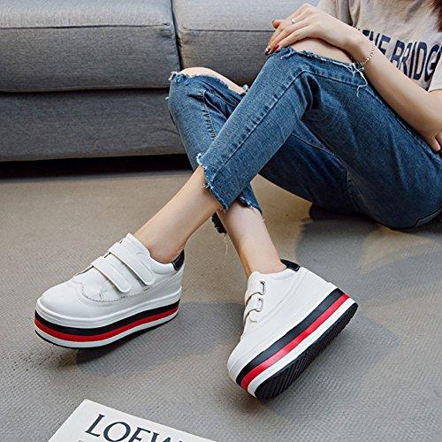 Cybling Casual Slip Op Schoenen Fashion Dikke Bodem Sneakers Voor Dames Zwart