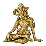 "Gangesindia Golden God ""Devraj Lord Indra"" Brass Statue"