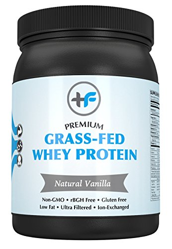 Premium Grass Fed Whey Protein by Healthy Fit Labs (340g - Natural Vanilla) | Pure Supplement | All Natural, Low Fat Powder Shake with Essential Amino Acids | Ion Exchanged, ()