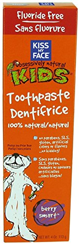 Kiss My Face Gentle Fluoride Free Toothpaste for Kids-Berry...