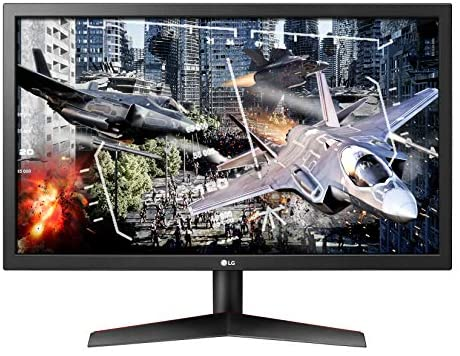 LG UltraGear 24GL600F-B 24 Inch Full HD Gaming Monitor with Radeon LooseSync Technology, 144Hz Refresh Rate, 1ms Response Time - Black
