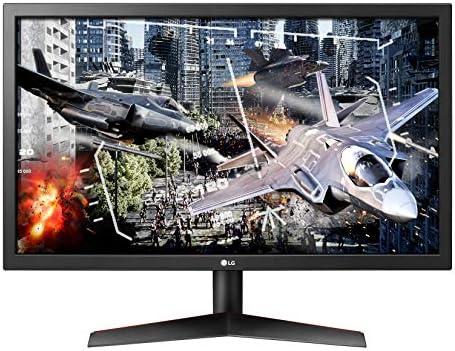 LG UltraGear 24GL600F-B 24 Inch Full HD Gaming Monitor with Radeon LooseSync Technology, 144Hz Refresh Rate, 1ms Response Time - Black
