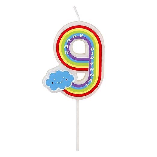 Número velas, 9 números, multicolor, velas de feliz cumpleaños para adultos y niños Happy Time