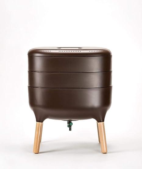 Compostador y accesorios Urbalive – su propio abono orgánico vegetal puede fabricarse ahora en casa y