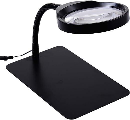 WOAIWOJIA 10x Lupa - Lámpara De Mesa Y Escritorio con Luz Led ...