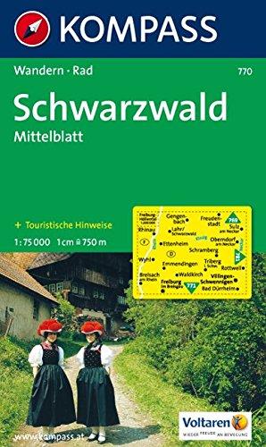 Schwarzwald, Mittelblatt: Wander- und Radkarte. 1:75.000