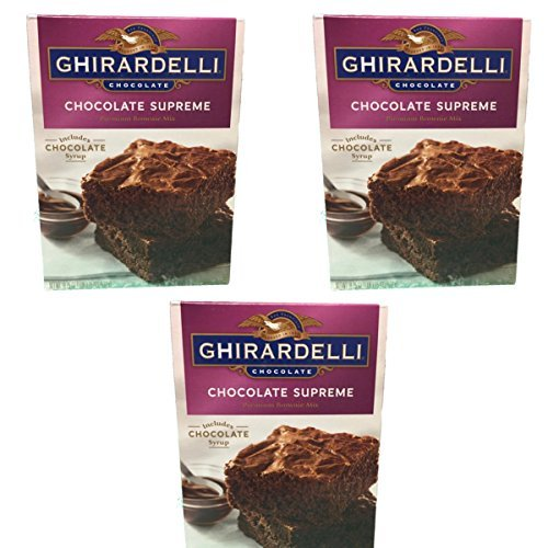 Ghirardelli Chocolate Lovers Chocolate Supreme Brownie Mix - Pack of 3, 18.75oz (Double Chocolate Fudge Brownies)