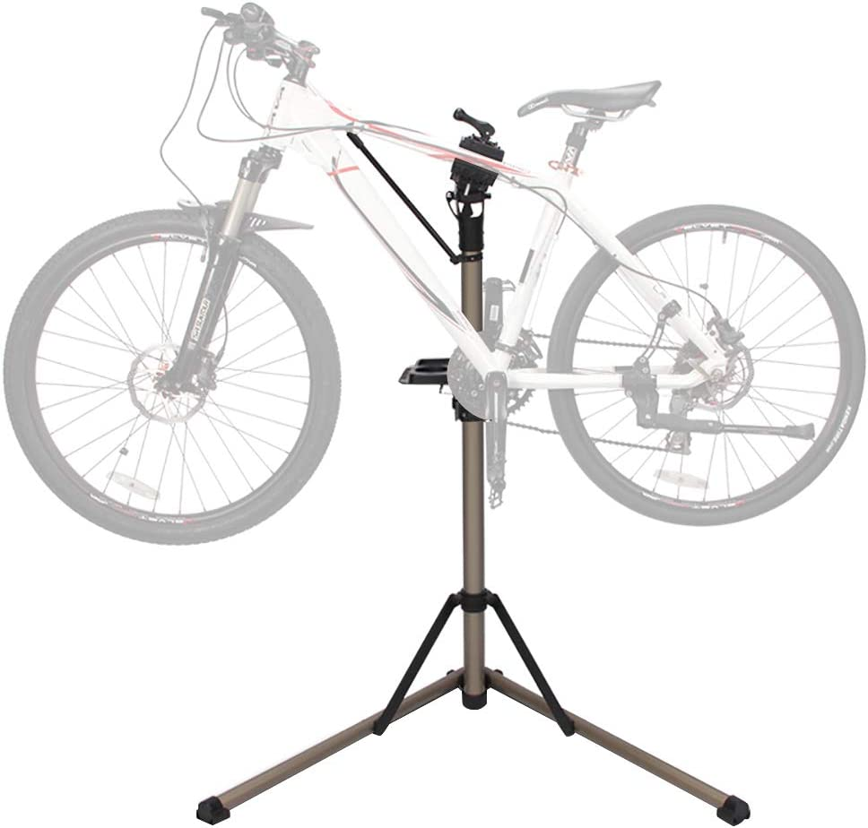 NAIZEA Bicycle Repair Stand, Home Mechanic Bike Repair Stand, Foldable Mountain Bike Repair Rack Stand Adjustable Bicycle Maintenance Rack Workstand for Road & Mountain Bikes
