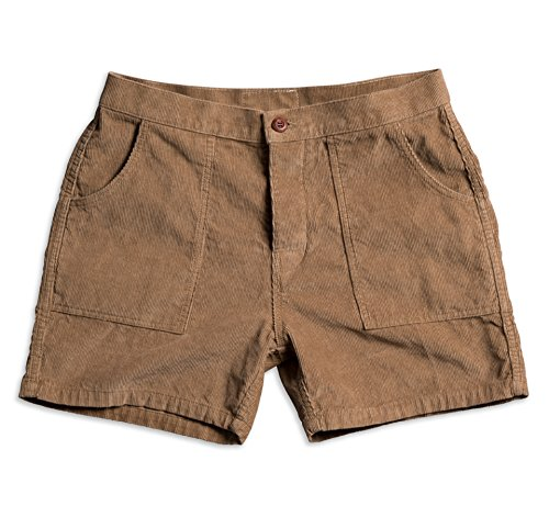 Birdwell Men's Classic Corduroy Shorts (Tan, 41)
