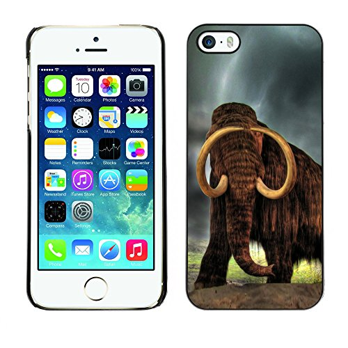Omega Case PC Polycarbonate Cas Coque Drapeau - Apple iPhone 5 / 5S ( Majestic Mammoth )