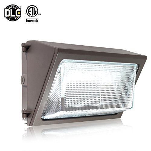 Parmida LED Wall Pack Light Fixture, 80W (350W MH Replacement), 0-10V Dimmable, 5000K, 9600LM, ETL, Made with Real Glass, Waterproof Rated, Outdoor Wall Light