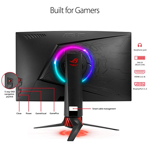 ASUS ROG Curved Gaming HD DP HDMI DVI Fully Function w/ 3 warranty