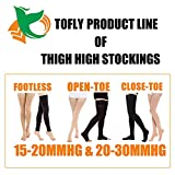 Thigh High Compression Stockings, Opaque, Firm